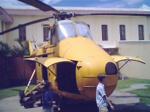 retired helicopter, San Jose, Costa Rica