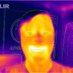 FLIR image with RGB image mixed in