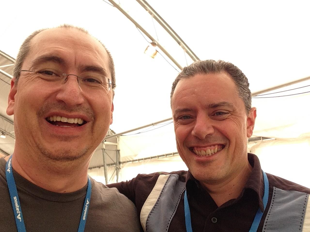 DiGRA 2014 selfie with Michael Mateas